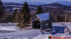 A cold winter's day at the Foster Covered Bridge in Cabot Vermont.  Please share and like. http://ift.tt/29Yn8hv http://ift.tt/2eIPpFe #newengland #newenglandphotography #landscapes #snow #winter