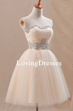 Champagne Swweheart Short Prom Dress Champagne by LovingDresses, $95.00                                                                                                                                                                                 Mehr