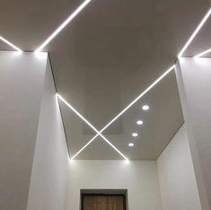 False Ceiling Design, Triangle Shape, Home Lighting, Ceiling Lights, Mirror, Interior, Gypsum, Home Decor, Ceilings