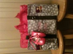 Thirty one diaper bag shower gift :)  I got this for my nieces shower gift, it was a huge hit.