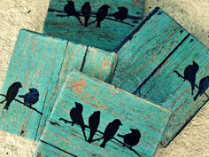 Hey, I found this really awesome Etsy listing at https://www.etsy.com/listing/175546009/rustic-coasters-teal-wood-tile-with #teal