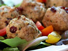 Turkey, cranberry and basil meatballs, on The Perfect Pantry.