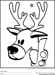 Christmas Coloring Pages for Kids Reindeer