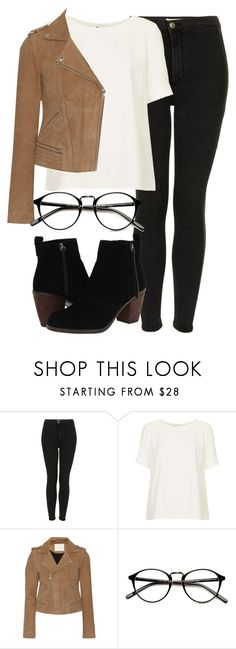 """Untitled #4254"" by laurenmboot ❤ liked on Polyvore featuring Topshop, Maje and Dolce Vita"