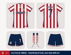 Nueva Nike equipación del Atlético Madrid 2015 2016 - Comprar equipaciones de futbol baratas 2016