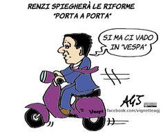 Quando Renzi ha detto che sarebbero andati porta a porta a spiegare le riforme ai cittadini non avevo capito che intendesse in TV...