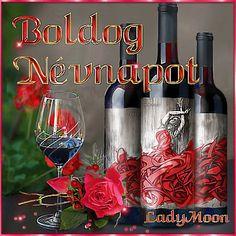 Birthday Name, Happy Birthday, Name Day, Beautiful Roses, Red Wine, Alcoholic Drinks, Names, Happy Brithday, Urari La Multi Ani