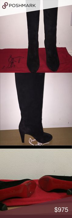 Dorfifa Christian Luboutin boots Size 37! Only worn once. Comes with both shoe covers and the heel guards. Christian Louboutin Shoes Over the Knee Boots