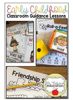 Your one-stop shop for all things PreK and Kindergarten School Counseling! Make your year easier with lessons and resources to use with your youngest learners all year long! Guidance Lessons, School Counselor, Social Skills, Early Childhood, Teaching Resources, Counseling, Kindergarten, Preschool, Classroom