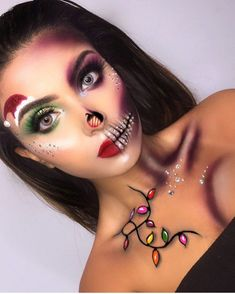 Christmasmakeuplook Christmas Makeup Look In 2019 How can you learn tricks if you're just starting to make up? Elf Makeup, Skin Makeup, Makeup Art, Makeup Ideas, Maquillage Halloween, Halloween Makeup, Holiday Makeup Looks Christmas, Christmas Fun, Tinta Facial