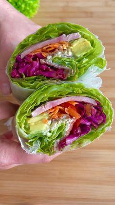 Healthy Recepies, Healthy Dishes, Healthy Snacks, Low Carb Recipes, Beef Recipes, Cooking Recipes, Bien Tasty, Veggie Wraps, Deli Food