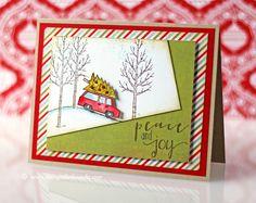 Wanda Guess: A Blog Called Wanda – Sweet Sunday Sketch #249 - 12/15/14.  (Stampin Up stamp: White Christmas. PTI: Peace & Joy sentiment.)