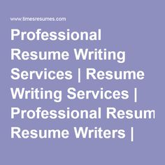 resume writing services in chennai