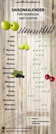Saisonkalender-Obst Infografik http://www.wir-essen-gesund.de/saisonkalender-obst/