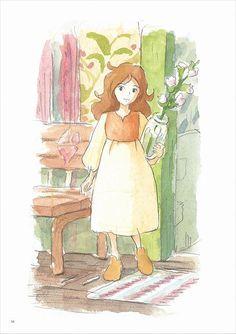 CATSUKA — Cover of japanese Cut magazine with Marnie + other. Hayao Miyazaki, Studio Ghibli Films, Art Studio Ghibli, Totoro, Secret World Of Arrietty, Arte Sketchbook, Howl's Moving Castle, Animation, Cute Art