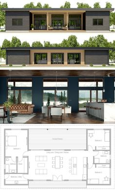 Tiny House Plans 727120302320563898 - Architecture House Plan, Home Plans, Casa Pequena, Planta de Casa Source by fouillaretfrederic Container House Design, Tiny House Design, Modern House Design, Small Contemporary House Plans, Small Modern Home, Simple House Design, Storage Container Homes, Modern Barn, Dream House Plans