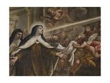 St Teresa Receiving the Eucharist Giclee Print by Niccolo Bambini
