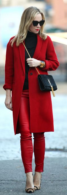 I love red pants! Street Style
