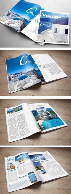 Voyage Magazine prototype #editorial #magazine #travel #editorialdesign #travelmagazine Travel Magazines, Editorial Design, My Design, Travel, Editorial Layout