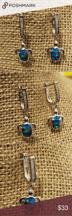 7-¾ inch Artisan Blue Opal Sea Turtle Bracelet Taxco Mexico