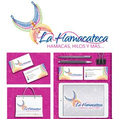 Autor: Amir Alcocer Palma  Obra: La hamacateca #Branding #Logo