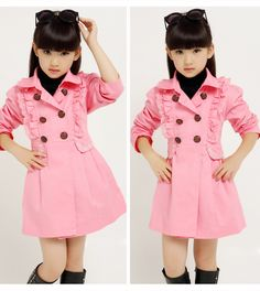 Cheap trench coats for girls, Buy Quality girls trench directly from China trench coat for kids Suppliers: 2017 autumn children's clothing girls trench fashion long sleeve cotton girl trench coats for girl kids windbreaker outerwear Boys Dress Outfits, Kids Dress Wear, Dresses Kids Girl, Little Girl Outfits, Trench Coats, Girls Trench Coat, Smocking Baby, Cece Dresses, Baby Clothes Patterns