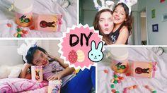 DIY PÁSCOA:  Orelhinhas de coelho + pote de doces  ♡ ft. Sophia