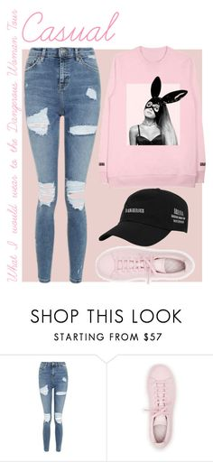 """""""What I would wear to the Dangerous Woman Tour - Casual"""" by amy1907murray ❤ liked on Polyvore featuring Topshop and adidas"""