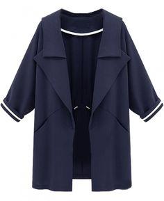 Cheap coat overcoat, Buy Quality coat and hat hook directly from China coats uk Suppliers: Autumn Europe Womens Sweatshirt Trench Coat Overcoat Navy Trench Coat, Trench Coats, Coat Outfit, Style Parisienne, Suede Coat, Blue Coats, Kids Fashion, Vestidos, Wraps
