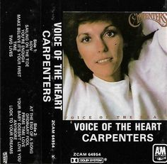 Carpenters - Voice of The Heart Cassette Tape South Africa Edition ZCAM 64954 Love Time, Cassette Tape, Second Life, Carpenter, The Fool, South Africa, Dreaming Of You, The Voice, Shirt Designs