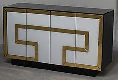 Greek Key 4 Door Cabinet
