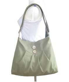 reed green cross body bag / messenger bag / shoulder by Markfabric, $26.00