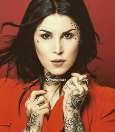 KatVonDItaly , KatVonD , Tattoo Girl , High Voltage Tattoo , Kat Von D , Rings , Hands , Cross , Fashion , Skull , Dark , Vegan , Food , Kitty , Hair , Roses , MakeUp , Beauty , Katvondbeauty , Ink Girl , Vegan , Sephora , Art , Los Angeles , Shooting , USA