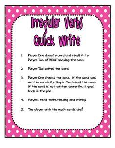 Print-  Irresistible Irregular Verbs: Spelling and Grammar Games