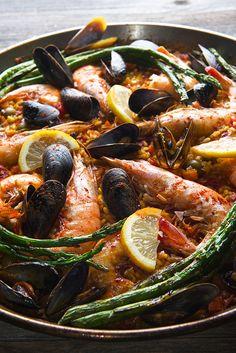 Grilled Seafood Paella Valenciana