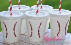 Sports Birthday Party-Baseball Party-Party Cups-Set of 10 on Etsy, $14.40
