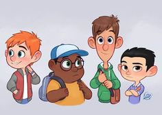 More little characters here, I hope you like them! #characterdesign #boys #luigilucarelli
