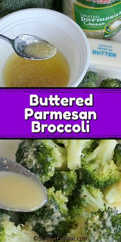 Seriously, the best broccoli side dish I've ever had, and it's only 3 ingredients. Not only is it easy to make, but it goes with most everything. The melted butter is mixed with grated Parmesan cheese, which is then drizzled over the crisp-tender steamed broccoli. So delicious. This Buttered Parmesan Broccoli recipe is just too good not to share. Parmesan Broccoli, Steamed Broccoli, Broccoli And Cheese, Side Dishes Easy, Side Dish Recipes, Microwave Bowls, Yummy Food, Tasty, Butter