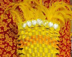 Tahitian Costume Strapless Bra Style top B por MahinaRoseDesigns