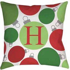 Thumbprintz Christmas Cheer Monogram Decorative Pillows, Multicolor