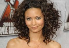Sensational Medium Length Curly Hairstyle For Thick Hair - Fave ...