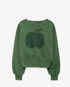 Green Apple Bear Sweatshirt
