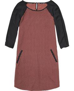 Contrast Sleeve Dress - Scotch