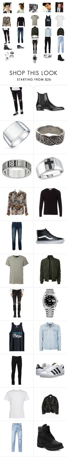 """One direction❤️"" by ebalihodzic ❤ liked on Polyvore featuring Topman, Yves Saint Laurent, Thomas Sabo, Ice, Dries Van Noten, American Vintage, Bellfield, Vans, Numero00 and LE3NO"