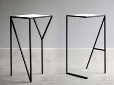 """Another """"typographic table"""". This time they used the legs of the table as the letters instead of the tops."""