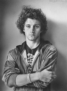 """""""Nicholas,"""" graphite, by Wendy Donahoe. Winner of the Marker Award, December 2012 at The Art League Gallery."""