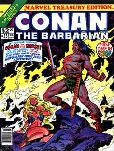 conan the barbarian comic book covers marvel | Marvel Treasury Edition #23, featuring Conan The Barbarian, 1979 ...