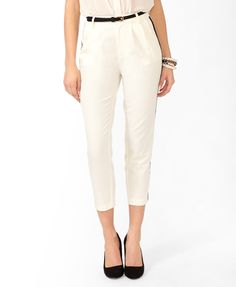 High-Waisted Striped Pants | FOREVER21 - 2031845601