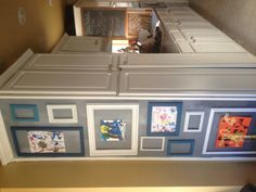 Use the side of the fridge/freezer to create a space for displaying Aimee's art work.