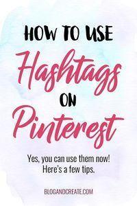 Hashtags on Pinterest are now a thing! Hashtags allow people to find the freshest new content uploaded to Pinterest, which means there's now a way to promote your newest content quickly. Read about best practices for this new opportunity to promote your b